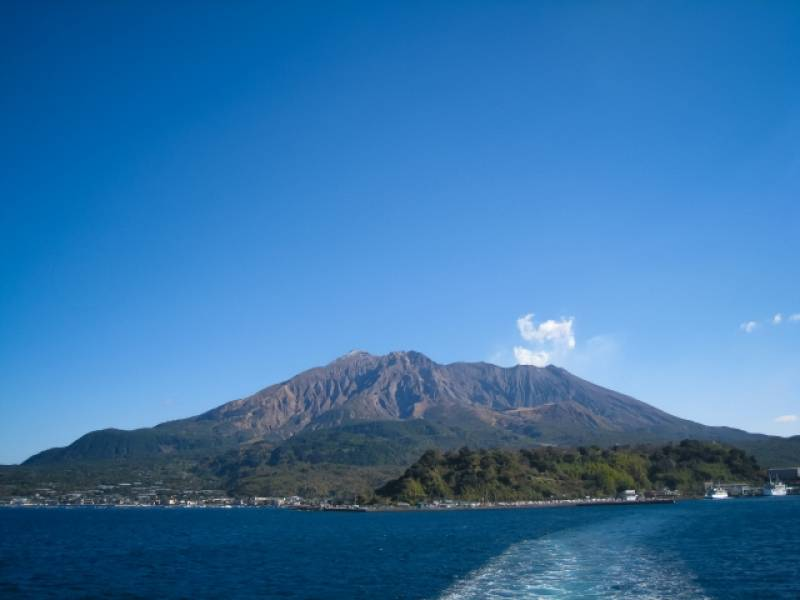 Kagoshima-ken - Districts / Prefectures - Sakurajima island - beatiful and active volcanic island - 1st picture/image
